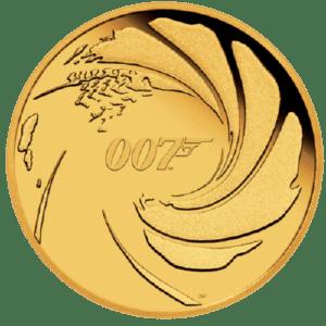 Złota moneta 007 James Bond 1 oz rewers