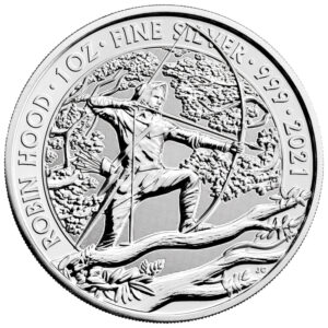 srebrna moneta Robin Hood 1 oz rewers