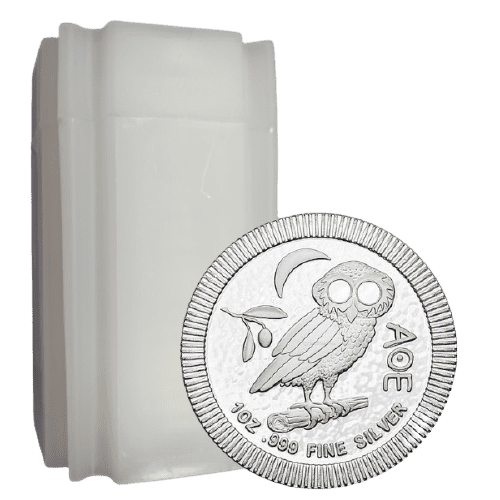 Zestaw 20 srebrnych monet Sowa Ateńska 1oz