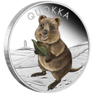 Srebrna moneta PROOF Quokka 1oz rewers
