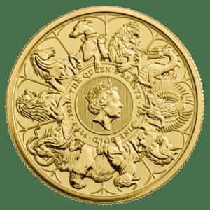Złota moneta Bestie Królowej 1oz awers