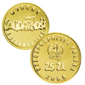 Pchełki 1 g złota Wybory 4 czerwca NBP