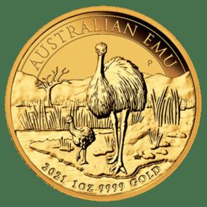 Złota moneta Australijskie Emu 1oz rewers
