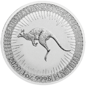 Platynowa moneta Australijski Kangur 1 oz rewers