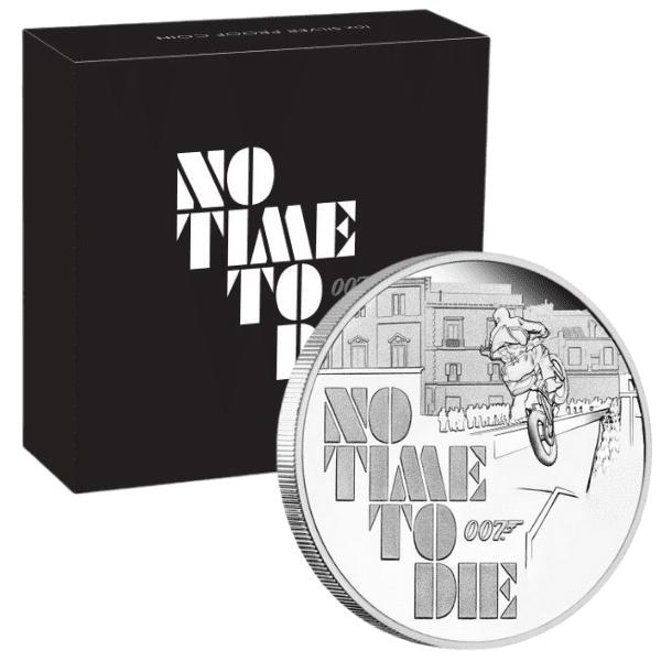 Srebrna moneta James Bond 007 No Time To Die 1 oz opakowanie
