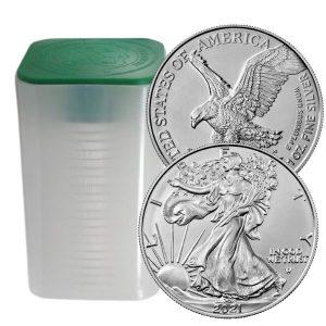 Zestaw 20 srebrnych monet american eagle