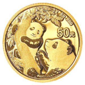 Złota moneta lokacyjna Chińska Panda rewers