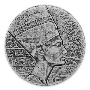Srebrna moneta Nefretete 5 oz rewers