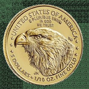 Złota Moneta Amerykański Orzeł American Eagle 1/10oz rewers