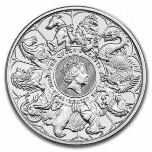 Srebrna moneta Bestie Królowej: Completer 2 oz rewers
