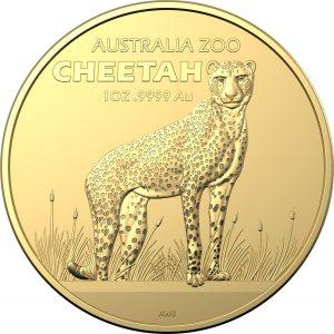 Złota moneta Australijskie Zoo: Gepard 1oz rewers