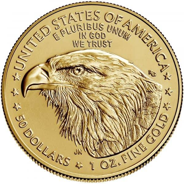 Złota moneta Orzeł Amerykański 1 oz rewers