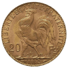 Złota moneta lokacyjna 20 Franków Francja Marianna i Kogut awers