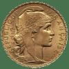 Złota moneta lokacyjna 20 Franków Francja Marianna i Kogut rewers