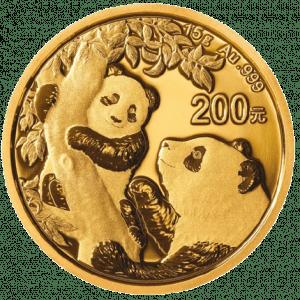 Złota moneta lokacyjna Chińska Panda 15g 2021 rewers