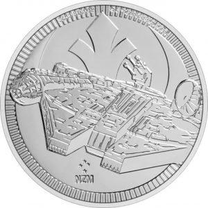 Srebrna moneta Gwiezdne Wojny Sokół Millenium 1 oz rewers