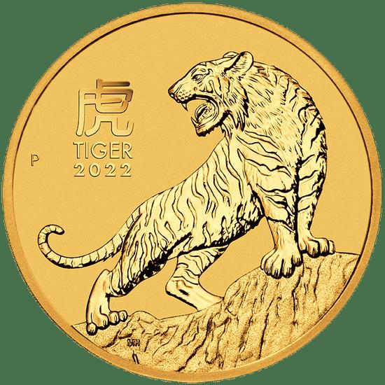 Złota moneta Lunar III Rok Tygrysa 1/2 oz 2022 rewers