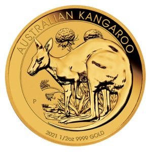 Złota moneta Australijski Kangur rewers