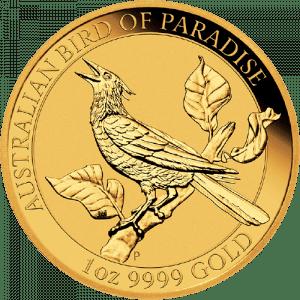 Złota moneta Rajskie Ptaki Manucodia 1 oz 2019 rewers