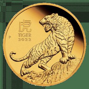 Złota moneta Lunar III Rok Tygrysa 1/4 oz 2022 rewers