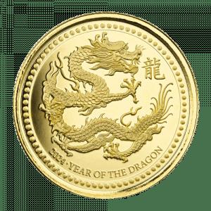 Złota moneta Samoa Rok Smoka 1 oz 2024 rewers