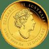 Złota moneta Lunar III Rok Tygrysa 1/4 oz 2022 awers