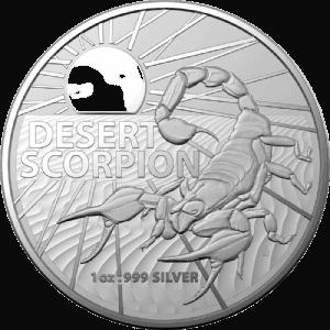 Srebrna moneta Najniebezpieczniejsze Stworzenia Australii Skorpion pustynny 1 oz 2022 rewers