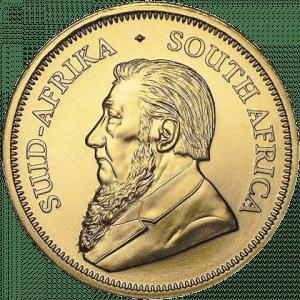 Złota moneta Krugerrand 1/10 oz 2021 rewers