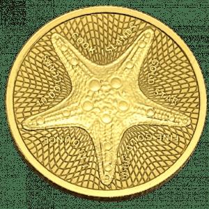 Złota moneta Wyspy Cooka Rozgwiazda 1/10 oz 2021 rewers