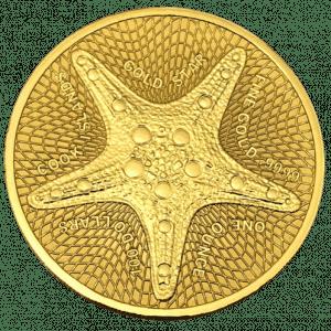 Złota moneta Wyspy Cooka Rozgwiazda 1 oz 2021 rewers